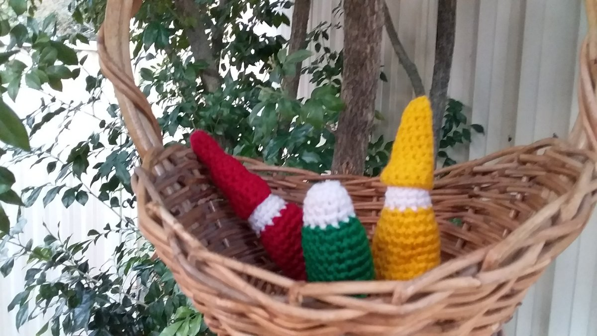 Home Made crochet Steiner/Waldorf Gnomes and Nins