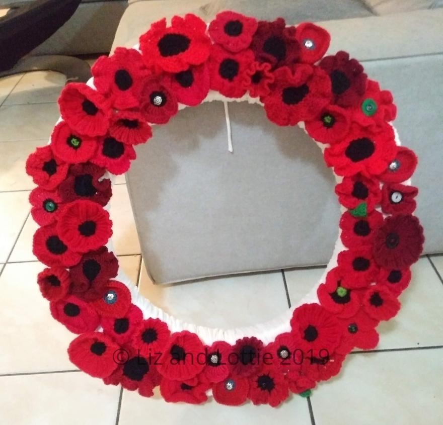Poppy Wreath by Liz and Lottie